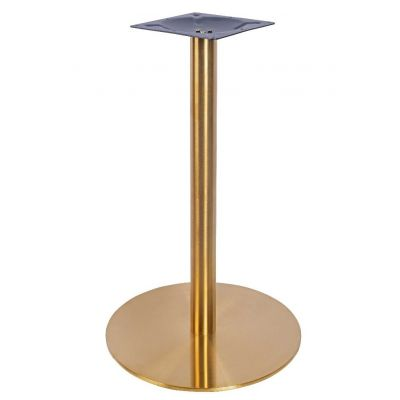 Zeus Small Dining Height Table Base (Brass)