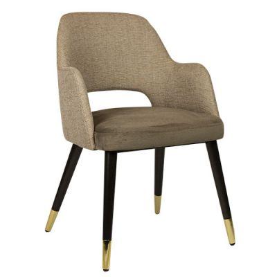 Sorbet Golden Feet Carver Chair (Latte Velvet)