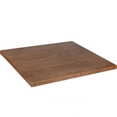 Square Solid Ash Table Top - 600mm x 600mm (Oak)