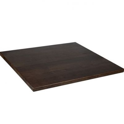 Square Solid Ash Table Top - 600mm x 600mm (Walnut)