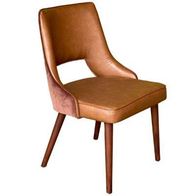 Tea Hole Side Chair (Textum Auelina/Monteria/Walnut)