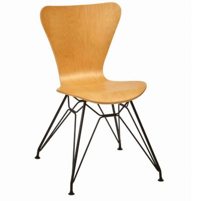 Torino Side Chair (Clear Lacquer / Black)