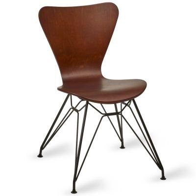 Torino Side Chair (Wenge / Black)