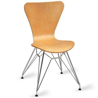Torino Side Chair (Clear Lacquer / Chrome)