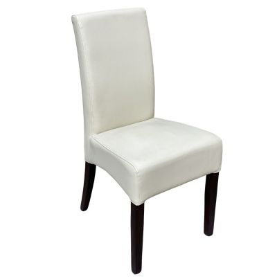 Valencia Side Chair (Ivory Faux)