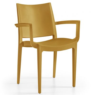 Wanda Arm Chair (Mustard)