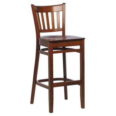 Holt Solid Seat High Chair (Walnut)
