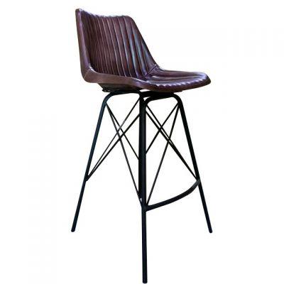 Patriot Rib High Chair (Brown Faux)