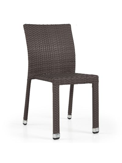 Woven Side Chair (Mocca Cream)