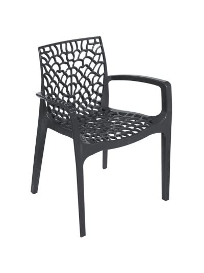Gruvyer Arm Chair (Anthracite)