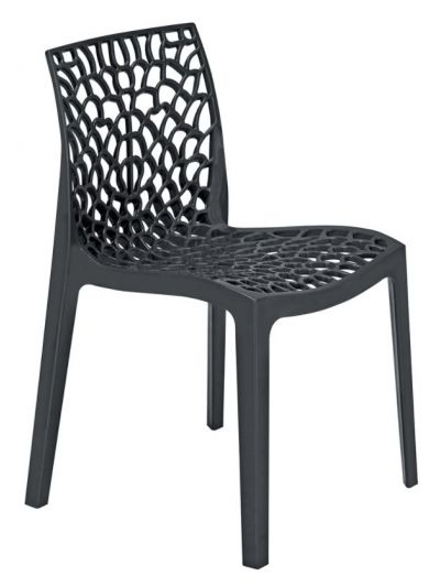 Gruvyer Side Chair (Anthracite)